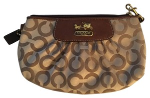 Coach Tan/Brown Clutch