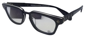 Chrome Hearts CHROME HEARTS Eyeglasses SLHOREGASM BK/SS 51-20 Black & Silver Frame