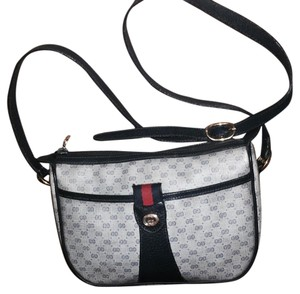 Gucci Blue Leather Tote Cross Body Bag