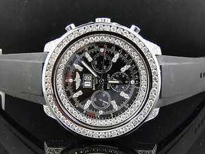 Breitling Pre-owned Breitling Bentley A4436412 Diamond Watch With Ct Diamond