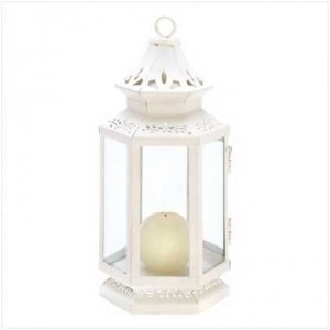 White Lanterns Centerpiece