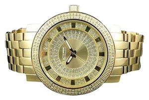 Other Mens Mm Jojinojoe Rodeo Aqua Master Gold Metal Band Diamond Watch Mj-1177