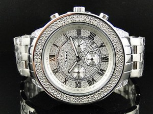 Other Mens 51 Mm Jojinojoe Rodeo Aqua Master Chrono Metal Band Diamond Watch Mj-1189