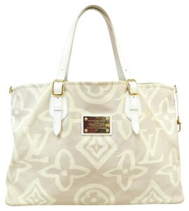 Louis Vuitton Collection Monogram Lv Tahitienne Cabas Tote in White