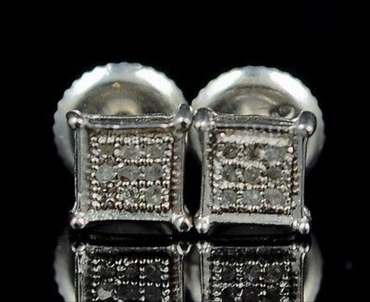 Other White,Gold,Finish,4,Prong,Genuine,Real,Diamond,Stud,Earrings,5,Mm