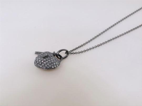 Other 14k,Black,Gold,Genuine,Real,Diamond,Heart,Pendant,Lack,And,Key,And,Free,Chain