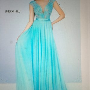 Sherri Hill Aqua Dress