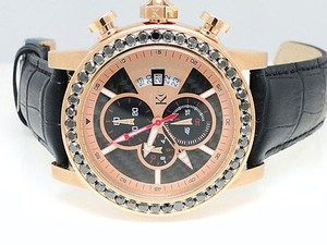 Techno Com by KC Mens Techno Com Kc Jojo Jojino Joe Rodeo Rose Black Diamond Watch Mm Ct