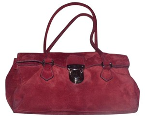 Prada 1960's Mod Look Buttery Soft Satchel in Red
