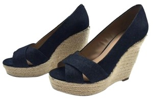 Vince Camuto Taylor Denim Blue Wedges