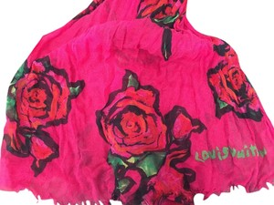 Louis Vuitton Louis Vuitton Stephen Sprouse Roses Fuschia Pink Shawl Scarf Pareo