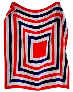 Halogen Concentric square pattern, patriotic colors
