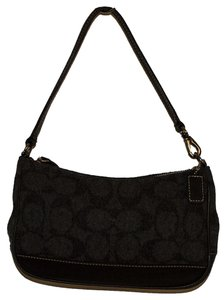 Coach Wool Tote in gray / black