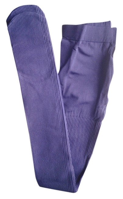 Item - Aubergine Purple W New Classic Ribbed Control Top S / M Hosiery