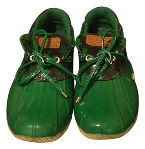 Sperry Duck Rubber Green and blue Boots