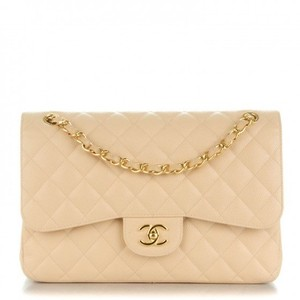 Chanel Caviar Jumbo Classic Flap Gold Hardware Shoulder Bag