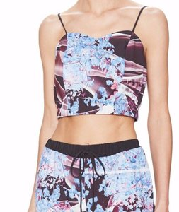 Clover Canyon Crop Floral Top