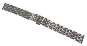 Michele Michele MS16FW235009 16mm 5 Link SS Watch Strap Band NEW!