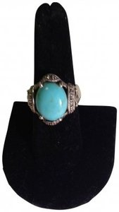 Other Turquoise/Marcasite Sterling Silver Ring (Sz. 8)