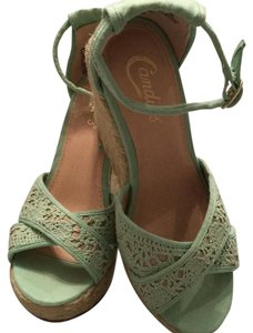 Candie's Mint green Wedges
