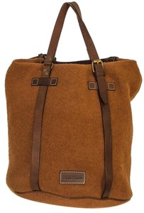 Dooney & Bourke Wool Satchel in rust / brown
