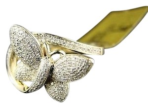 Ladieswomens,Yellow,Gold,Butterfly,Fashion,Diamond,Ring,10k,.50,C