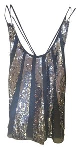 Juicy Couture Evening Sequin Camisole Top Gray