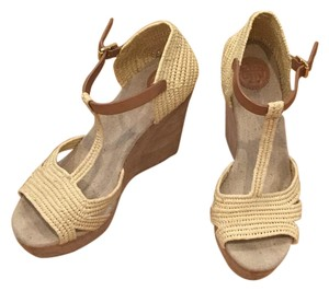 Tory Burch Wedges Tan Wedges