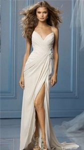 Wtoo Oyster Chiffon Caprina 10015 #1507 Wedding Dress Size 16 (XL, Plus 0x)