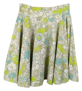 Odille Spring Lined Skirt Yellow, Blue