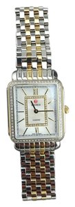 Michele 'Deco II Mid' Diamond Dial Watch Case