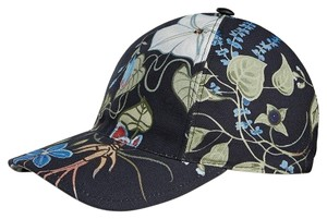 Gucci Gucci Black Flora Knight Canvas Baseball Hat