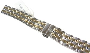 Michele Michele MS16FW285048 16mm 5 Link Two Tone Watch Strap Band NEW!