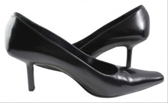 Via Spiga Leather Made In Italy 3 Inch Heel Sexy 8m 1990s Black Pumps