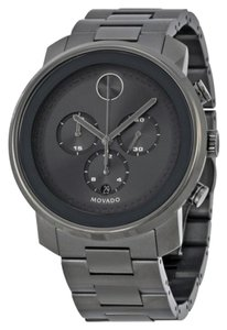 Movado Dark Grey Sunray Stainless Steel Designer MENS Casual Watch