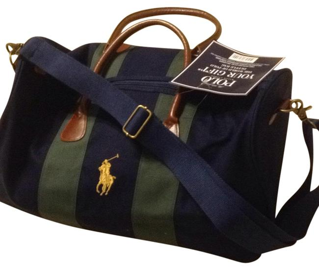 Item - Duffle With Shoulder Strip and Zipper Navy Canvas Weekend/Travel Bag