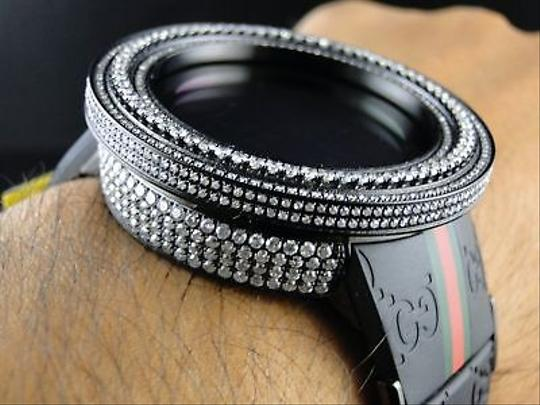Gucci Custom Black Big I Gucci Digital Diamond Watch Ct