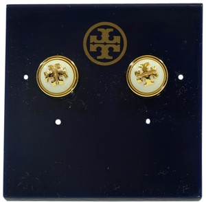 Tory Burch NEW TORY BURCH Melodie Stud Dome Earrings, Ivory/Gold