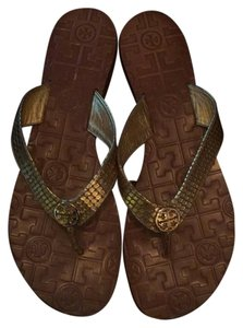 Tory Burch Gold, brown Sandals