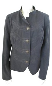 CAbi Embroidered Gray Jacket