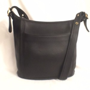 Coach Leather Bucket Hobo Cross Body Bag