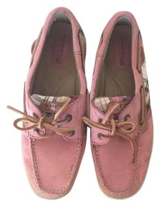 Sperry Casual Comfortable Plaid Pink Flats