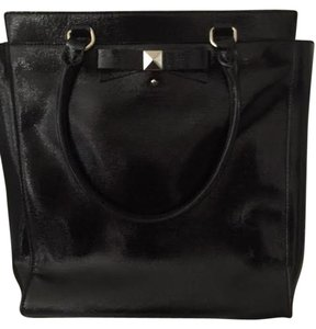 Kate Spade Ct Georgica Tote in Black Patent Leather