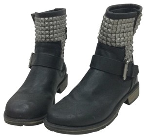 MS Shoe Designs Black, Silver Boots