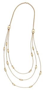Tory Burch NEW Tory Burch Gemini Multi Strand Necklace 16K Gold