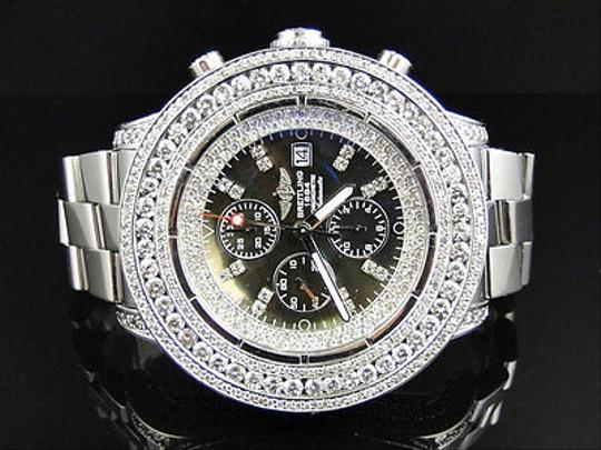 Breitling Mens Breitling Super Avenger Aeromarine 53 Mm Genuine Diamond Watch 23.5 Ct