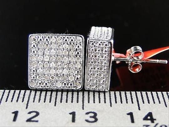 Other Ice,Cube,Block,Mens,Diamond,Stud,Earrings,10mm,0.75ct