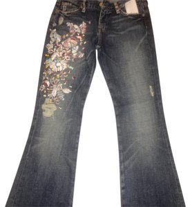 7 For All Mankind Zac Posen Boot Cut Pants Denim