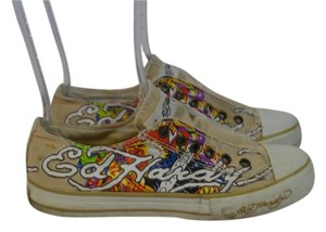 Ed Hardy BEIGE MULTI COLOR Flats