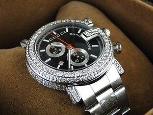 Gucci Ct Custom G Watch Mens Diamond Gucci Ya101334 Ct Sides